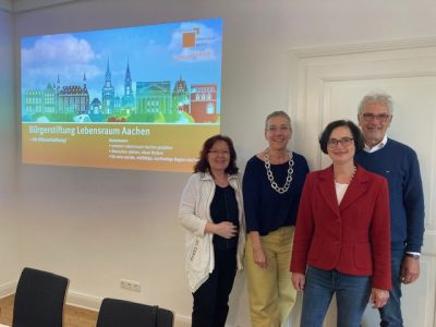 In Aachen setzt sich die Bürgerstiftung Lebensraum Aachen für die Belange der Menschen ein